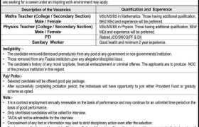 Fazaia Inter College Lower Topa Jobs 2021