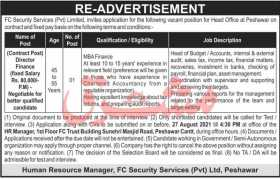 FC Security Services Pvt Limited Jobs 2021