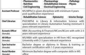The University of Faisalabad Jobs 2021
