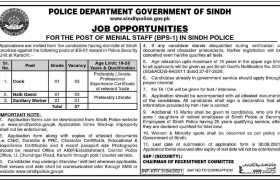 Sindh Police Department Jobs 2021