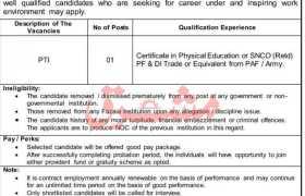 Jobs in Fazaia Inter College Kohat 2021