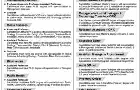 SZABIST Karachi Campus Jobs 2021