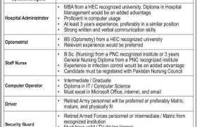 LRBT Secondary Eye Hospital Quetta Jobs 2021