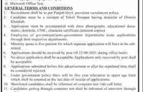 AC Office Khushab Jobs 2021