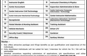 Jobs in National Logistics Cell 2021