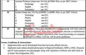Jobs in University of Buner 2021
