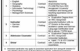 Jobs in NUML Karachi Campus 2021
