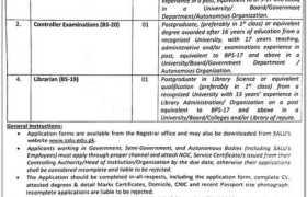Shah Abdul Latif University Khairpur Jobs 2021