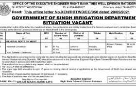 Jobs in Tube Well Division Ratodero 2021