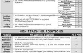 Jobs in TIMES Institute Multan 2021