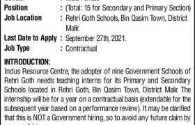 Internship at Indus Resource Center 2021