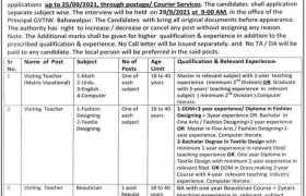 TEVTA Bahawalpur Jobs 2021