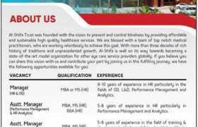 Jobs in Al-Shifa Trust Eye Hospital 2021