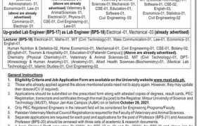 Jobs in MUST Mirpur 2021