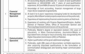 Jobs in On Farm Water Management KPK 2021