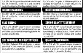 Jobs in Izhar Construction Pvt Limited 2021