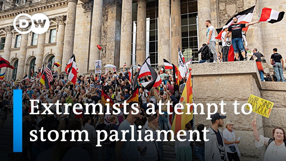 Germany shocked by far-right protesters attempting to enter Parliament   DW Information