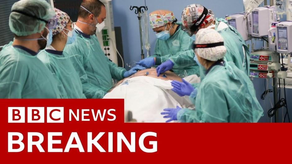 Coronavirus: UK deaths cross 100,000 – BBC Information