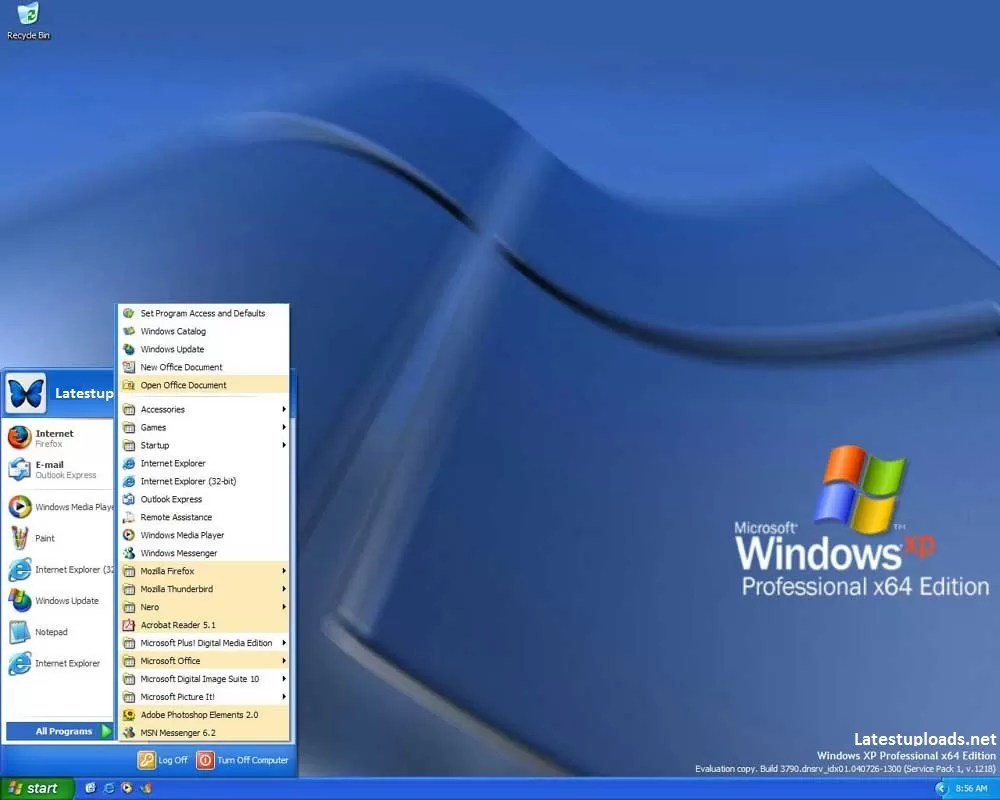 Windows XP SP1 64-Bit Edition ISO Full Version Download