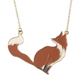 Oliver Bonas Fox Necklace http://goo.gl/AoW6Yq