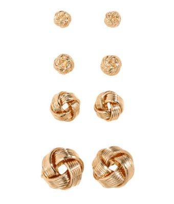 H&M Gold Knot Earrings - 4pk