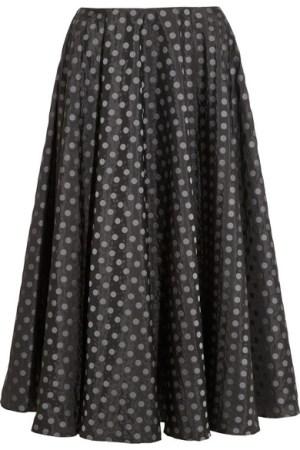 MIU MIU Polka-dot jacquard taffeta skirt tiny.cc/qi9p9w