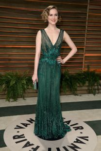 Evan Rachel Wood in Elie Saab {Vanity Fair Oscar Party hosted by Graydon Carter}