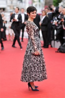 Audrey Tautou in bespoke Prada and Chaumet jewelry