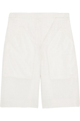 21. BERMUDA SHORTS | CHLOÉ Silk-blend cloqué shorts, from net-a-porter.com