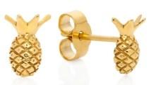 LEE RENEE Pineapple Stud Earrings