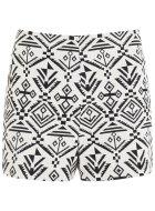 MISS SELFRIDGES Cream Aztec Shorts