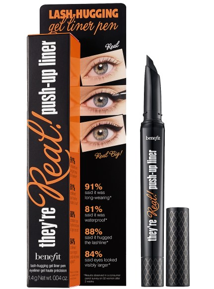 BENEFIT COSMETICS They're Real! Push-Up Liner | lash-hugging gel liner pen, coming 06/27/2014 from benefitcosmetics.com