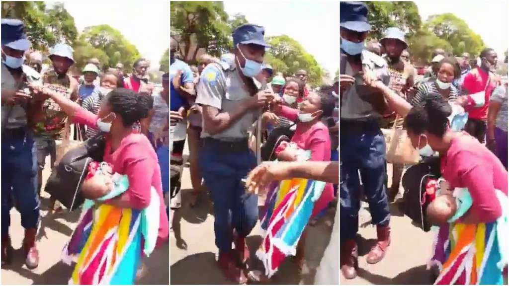 Zimbabwe-Police-Officer-Kills-Baby-While-Assaulting-Mom-Collage