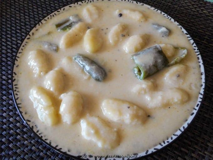Gnocchi à la sauce crémeuse ail et parmesan