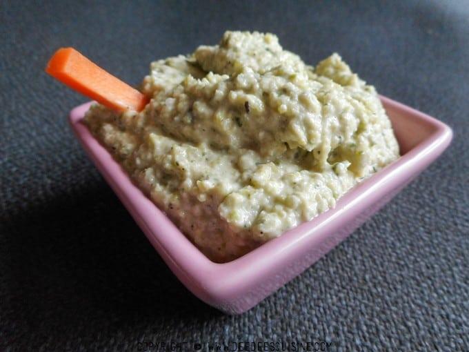 houmous de courgette recette paleo