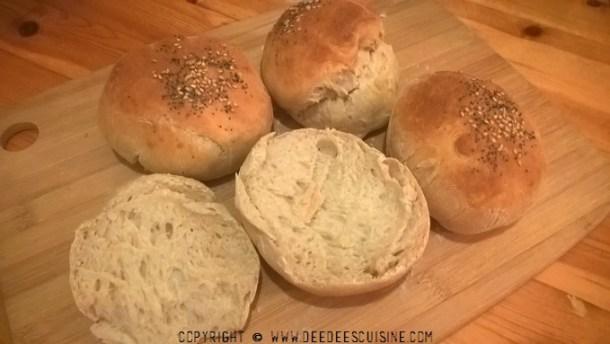 petits pains pour burgers