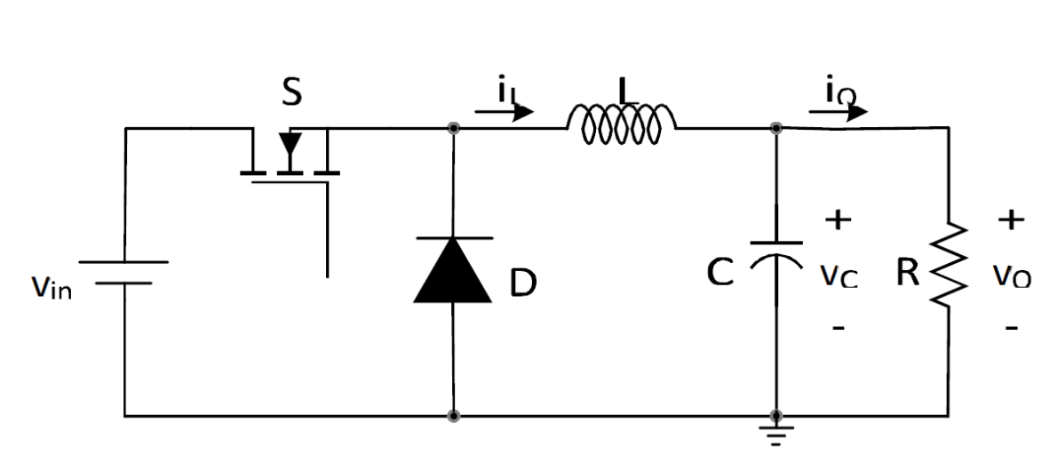 How to draw a DC/DC Buck Converter in LaTeX using