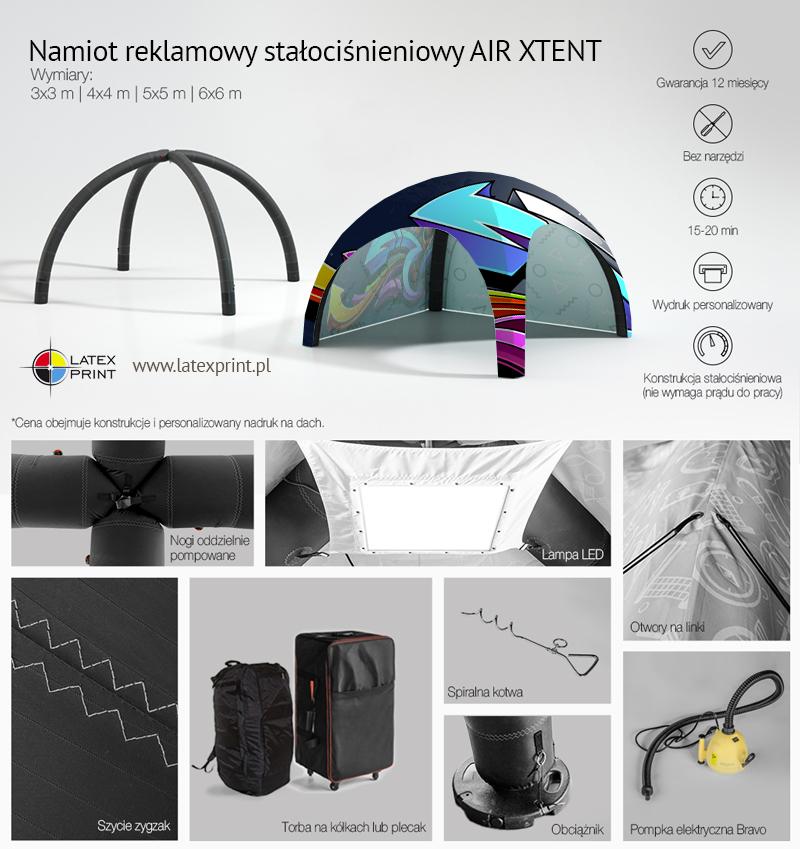 Namiot stałociśnieniowy z nadrukiem