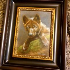 Framed Wolf Puppy