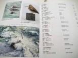 Rebecca Latham's work listed in the National Exhibition of Wildlife Art, Wirral, UK - Photo courtesy of Stuart Latham