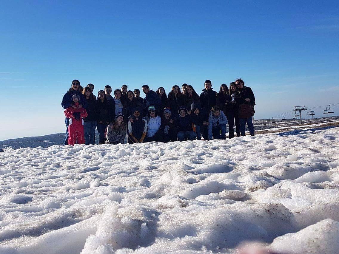 Jovens da LATI na Serra da Estrela