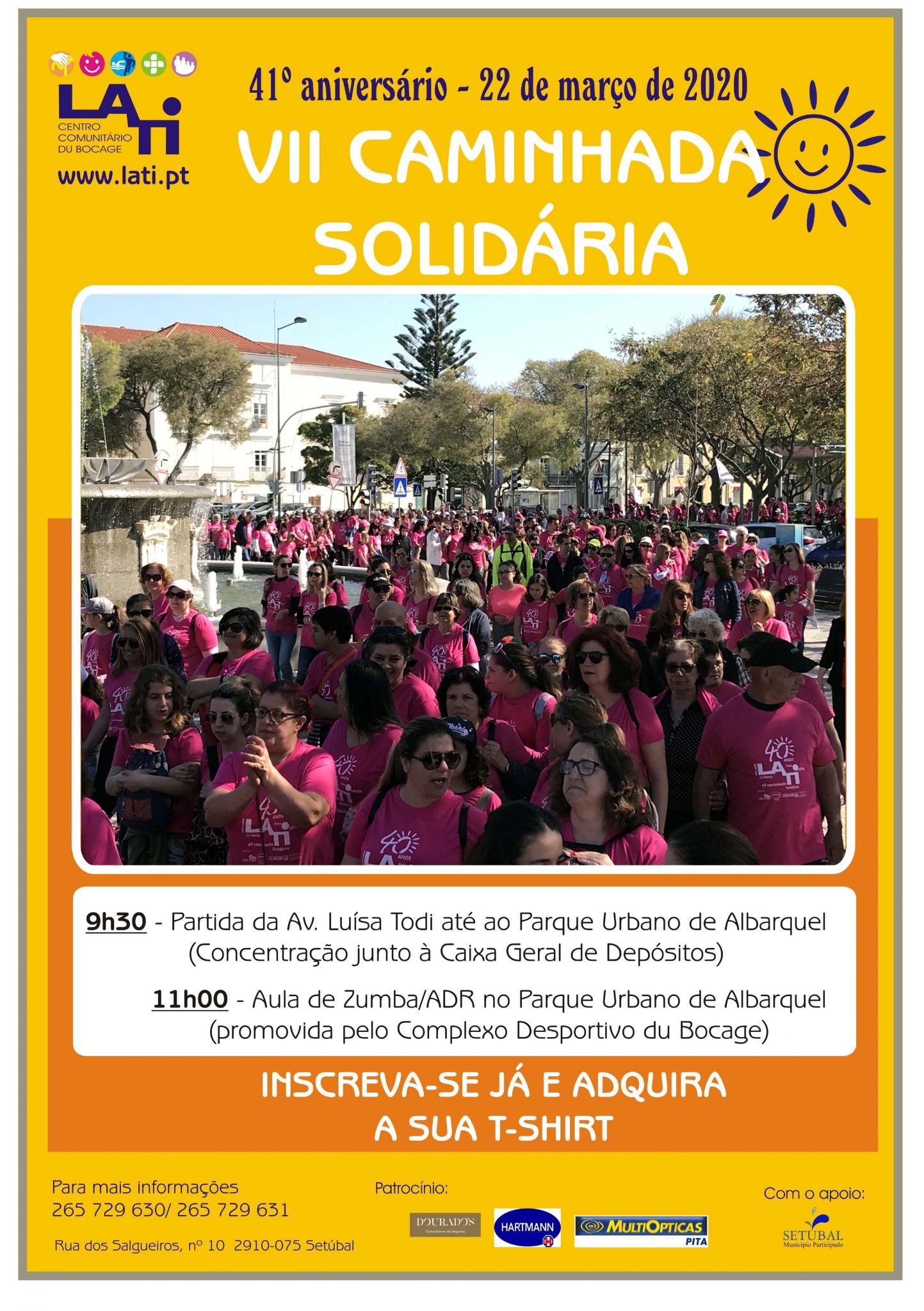 Participe na VII Caminhada Solidária da LATI
