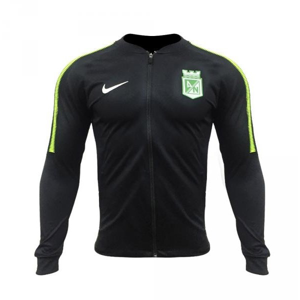 Atlético Nacional 2018 chaqueta negra franja verde - Los Del Sur ... 3e6de1e3945