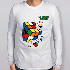 Polo Manga larga Cube Explotion con diseño tipo Rubik