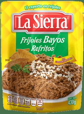 Frijoles Refritos Bayos la Sierra para Comida Mexicana