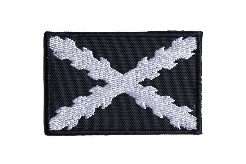 """Bordado """"Bandera Mercante"""" con cruz de borgoña"""