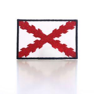 Bordado «España Antigua» con Cruz de Borgoña borde azul