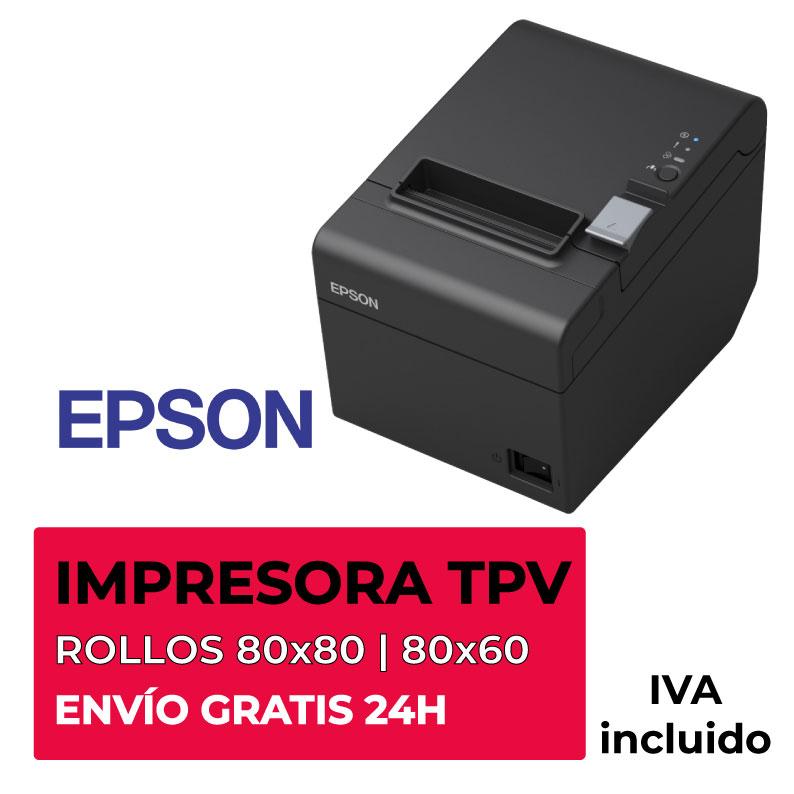Impresora Térmica TPV Epson TM-T20II USB/RS-232   La Tienda del Rollo