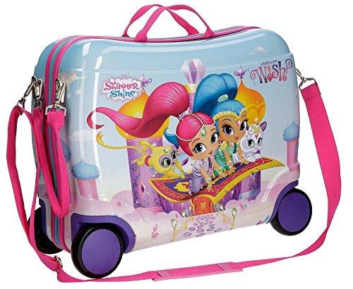 Maleta de viaje para niños de Joumma Bags.Maleta correpasillos Shimmer and Shine Wish.
