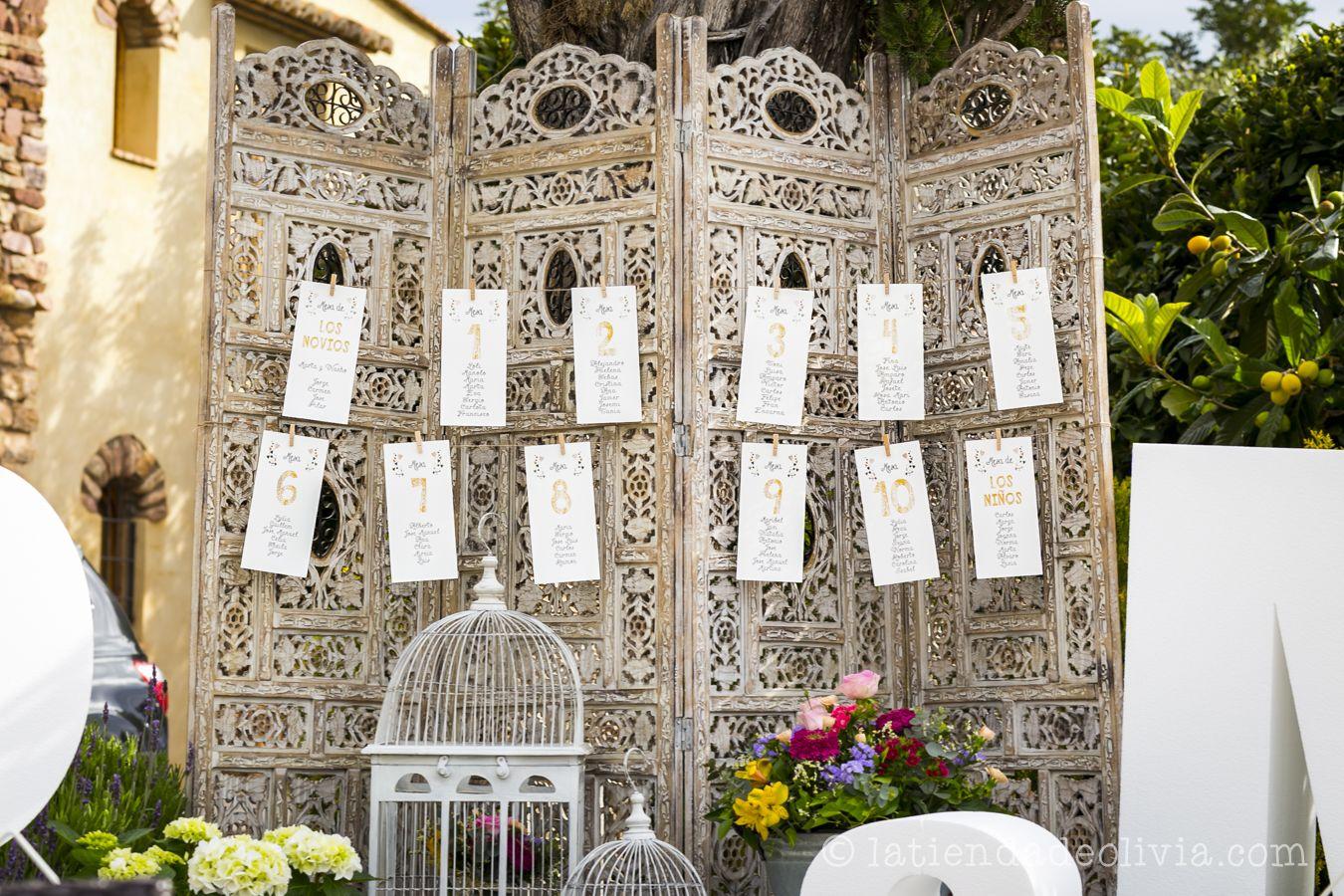 Seating plan de boda  La Tienda de Olivia